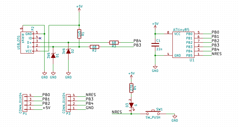 The completed schematic for our board