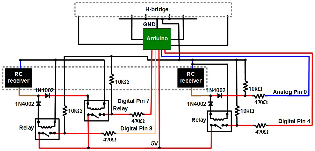 Finished RC-to-Arduino converter schematic