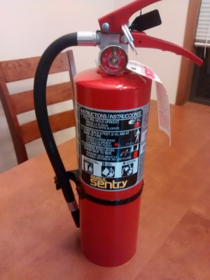 New 5-lb ABC fire extinguisher for my shop.