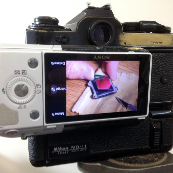 Converting Film Camera To Digital The Hard Way | Hackaday