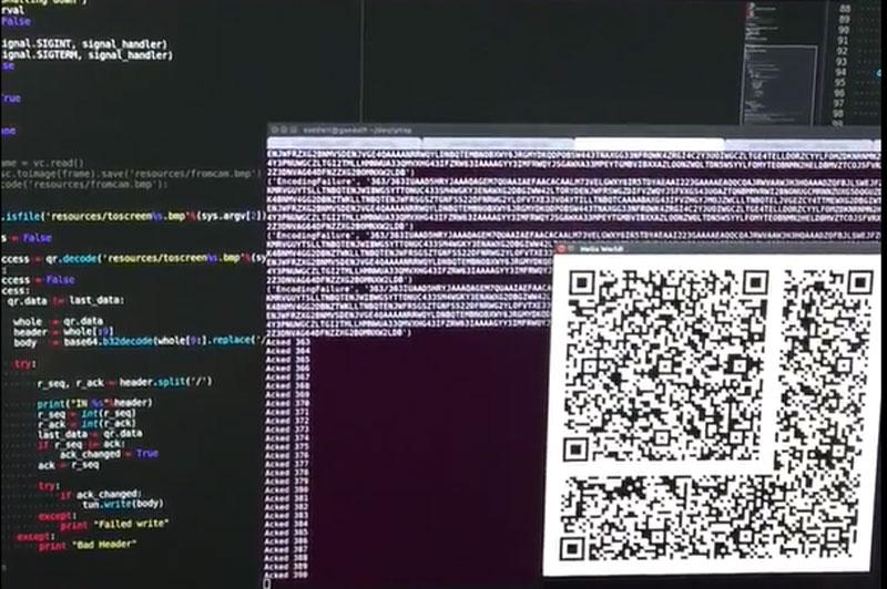 IP Over QR Codes | Hackaday