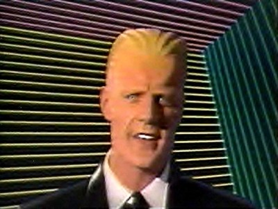 The real [Max Headroom] (Fair use) Via Wikimedia commons.