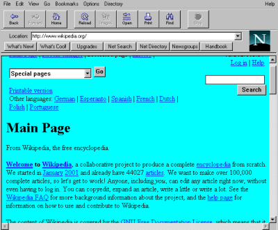 Netscape Navigator didn't beat MSIE, but it beat the CD-ROM multimedia business into the dust. (Wikimedia Commons)