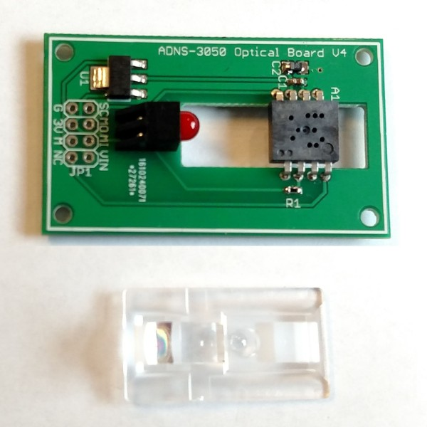 DIY Optical Sensor Breakout Board Makes DIY Optical Mouse