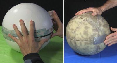 Sealing globes - cardboard and fiberglass