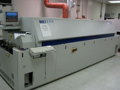 Our reflow oven was a lot smaller than this one. Nelatan [CC-BY-SA-3.0], via Wikimedia Commons.