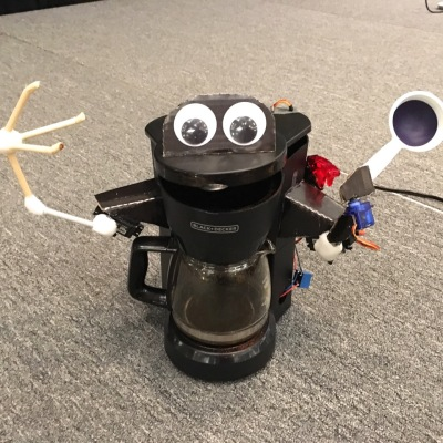Alexa coffee maker robot