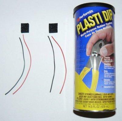 Anti-static foam, wire, Plasti Dip for an analog pressure sensor