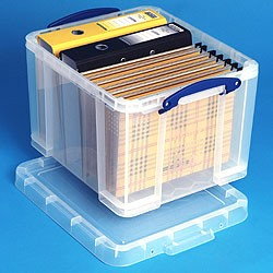 The hanging file box we used, a Really Useful Product.