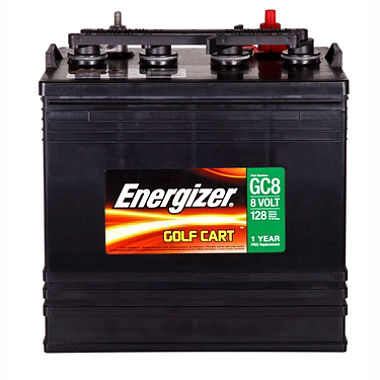 Golf cart batteries are mass produced and optimized for deep cycle use.