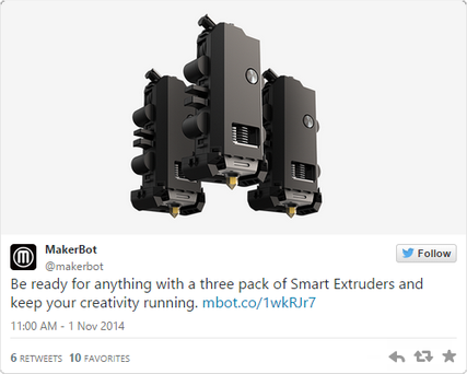 MakerBot sold the Smart Extruder – a part that should not fail – in packs of three.