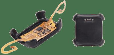 Seeed's Xadow adapter clips onto the back of Pebble