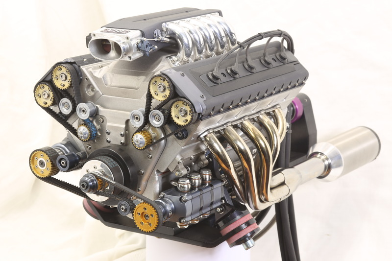 Supercharged Fuel Injected V10 Engine At 1 3 Scale Hackaday