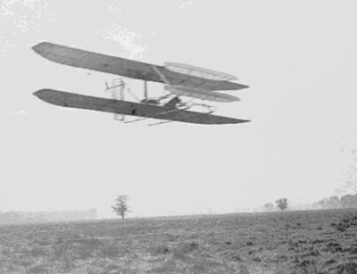 Wright Flyer II flying circles in 1904