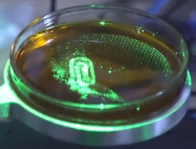Holograhically 3D printing a paperclip