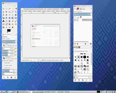 The GIMP is as smooth as you'd expect it to be on your PC.