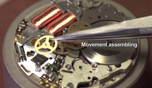 Seiko Spring Drive Movement Being Assembled