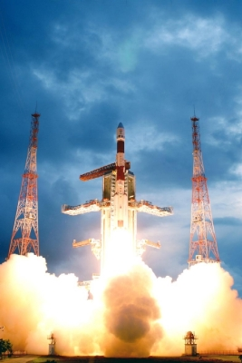Launch of a PSLV by the Indian Space Research Organization