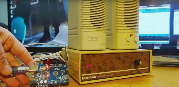 MicroVox driven by Arduino Uno