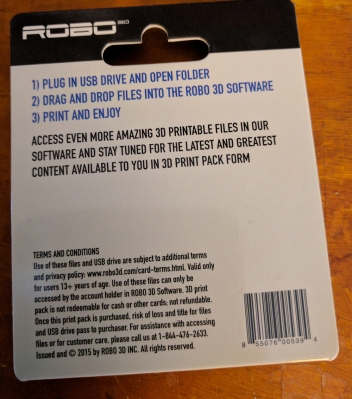 The back of this USB thumb drive's packaging