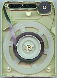 Inside an 8-track cartridge. Isis (GFDL).