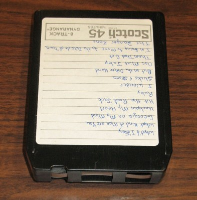 An 8-track stereo cartridge. Government & Heritage Library, State Library of NC (CC BY 2.0).