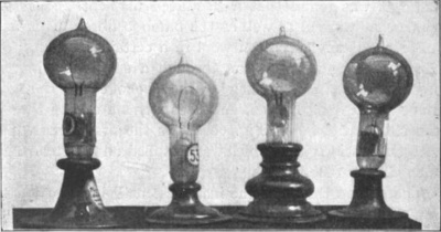 Edison carbon filament light bulbs from the early 1880s