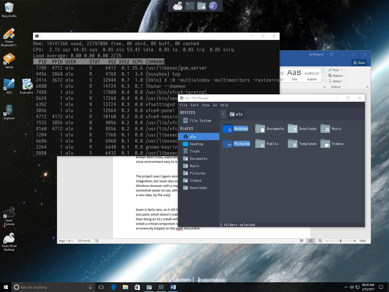 Swan: Better Linux On Windows | Hackaday