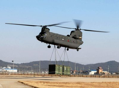 A Chinook helicopter in service. UNC - CFC - USFK [CC BY 2.0].