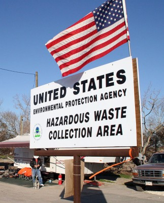 Find the appropriate place to dispose of your chemicals. Robert Kaufmann/FEMA Photo Library [Public domain].