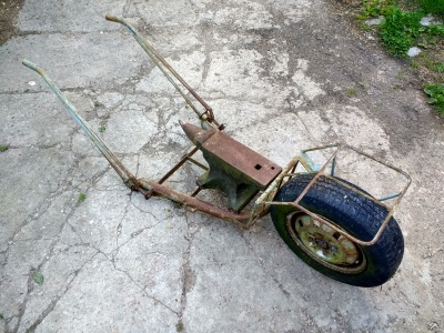 My dad's low-loader barrow. You would not believe how useful it is.