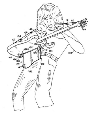 Musical instrument support, [Edward L. Van Halen], US patent US4656917A.