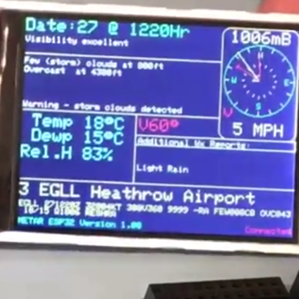 ESP32 Display Is Worth A Thousand Words | Hackaday