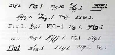 The beauty in hand-rendered fonts from patent artwork, collected within the book.
