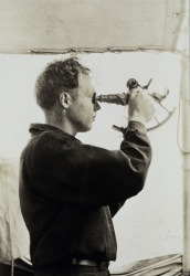 A sextant in use