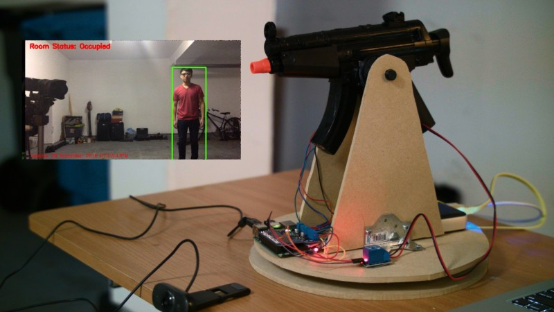 OpenCV Turret Tracks Motion, Busts Airsoft Pellets | Hackaday