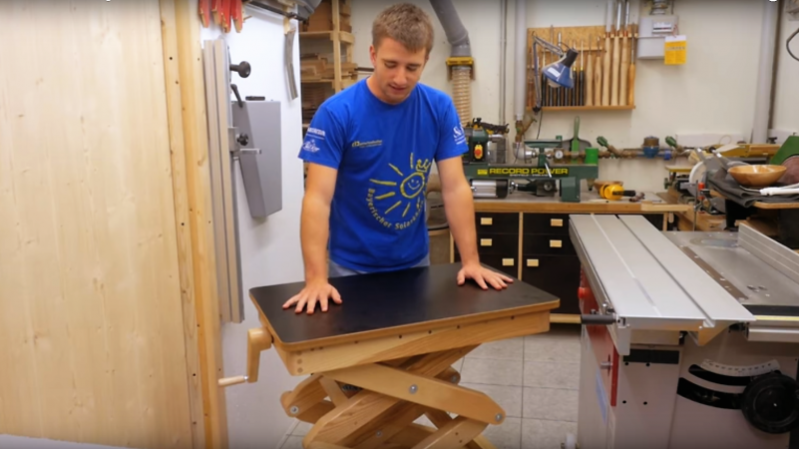 Scissor Lift Table From The Wood Shop, For The Wood Shop