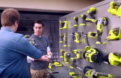 """You might as well take that lot away with you Kevin, I'll have to replace them all in a few years anyway!"". (Ryobi TV)"