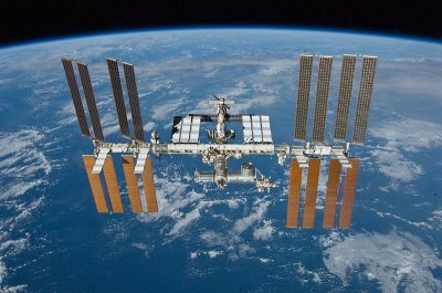 The ISS in flight. NASA(Public Domain)