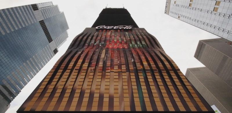 Coca-Cola's 3D sign