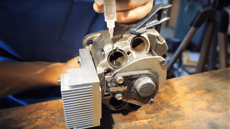Fridge Compressor To 2-Stroke Engine: JB Weld For The Win
