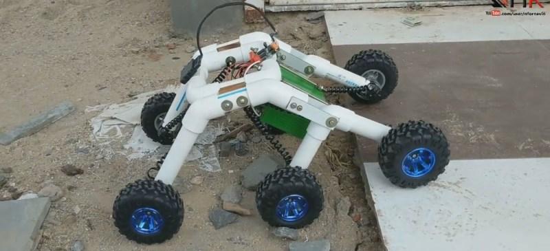 Step climbing rocker-bogie robot
