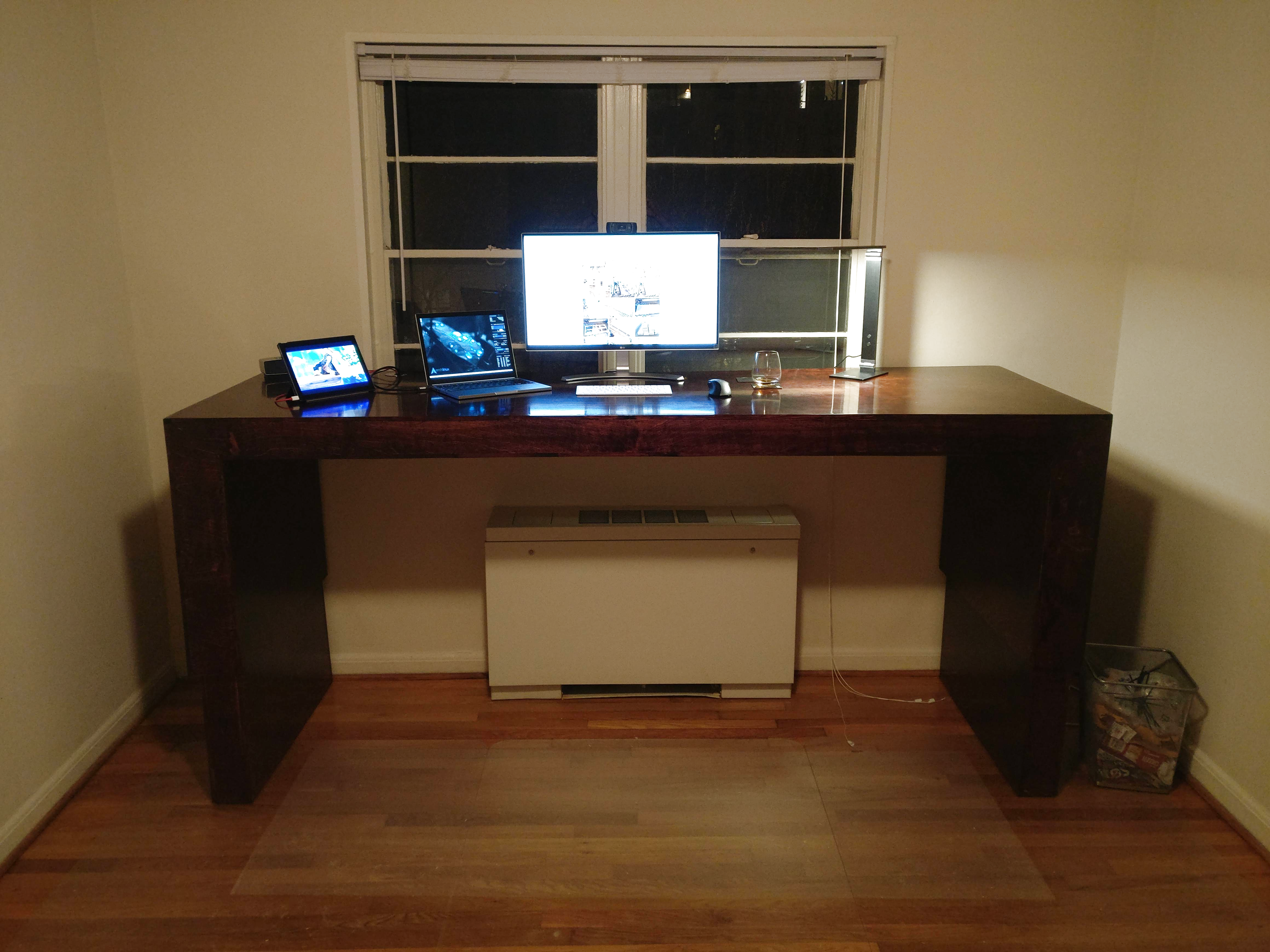 A Massive Adjustable Standing Desk From Scratch Hackaday