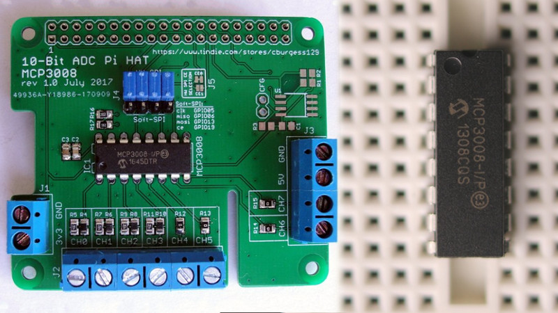 8-Channel ADC For The Raspberry Pi | Hackaday