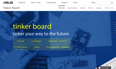 The Tinker Board official website.