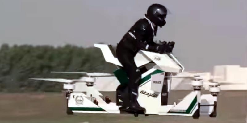 Dubai Police Test Quadcopter Motorcycle | Hackaday