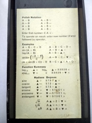 Close-up of the RPN crib sheet.