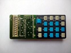 Circuit board, keyboard side.