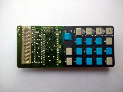 Circuit board, keyboard side.