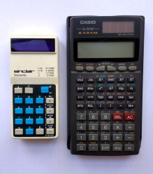 Comparison with a more modern calculator.